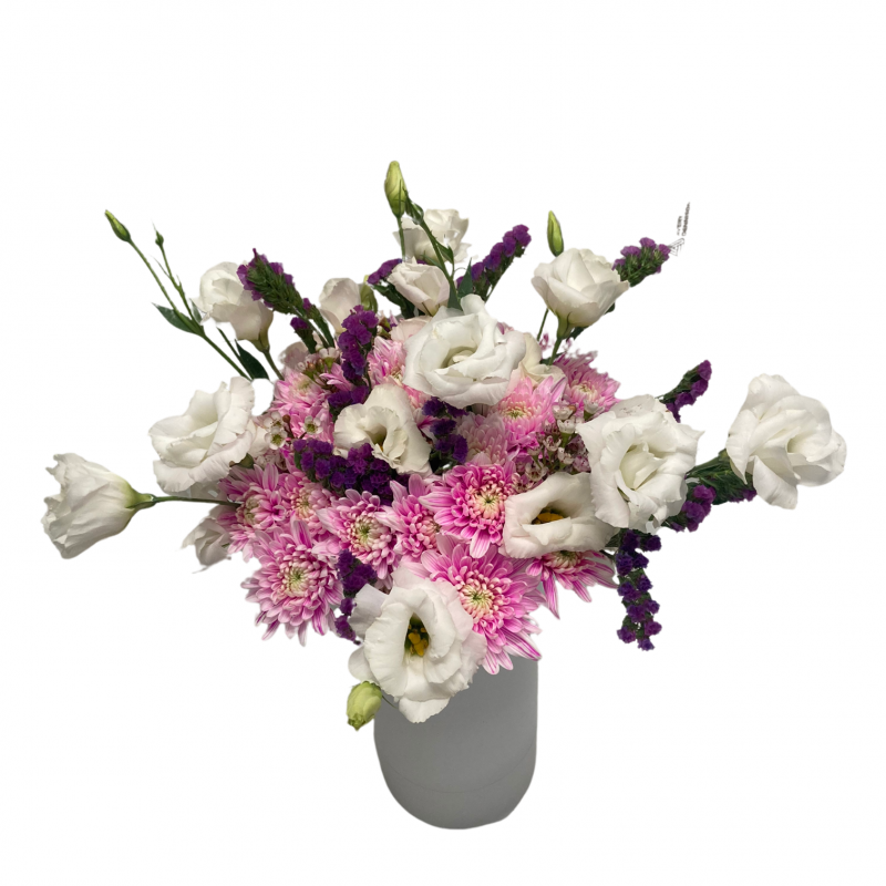 Bouquet of lisianthus & chrysanthemums
