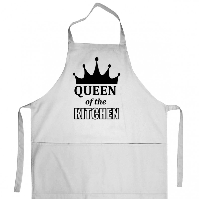 Apron «Queen of the kitchen» (white)