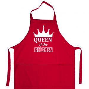Apron «Queen of the kitchen» (red)