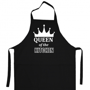 Apron «Queen of the kitchen» (black)